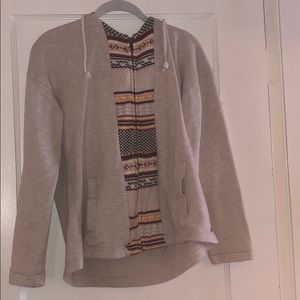 Women's patterned zip up hoodie size large